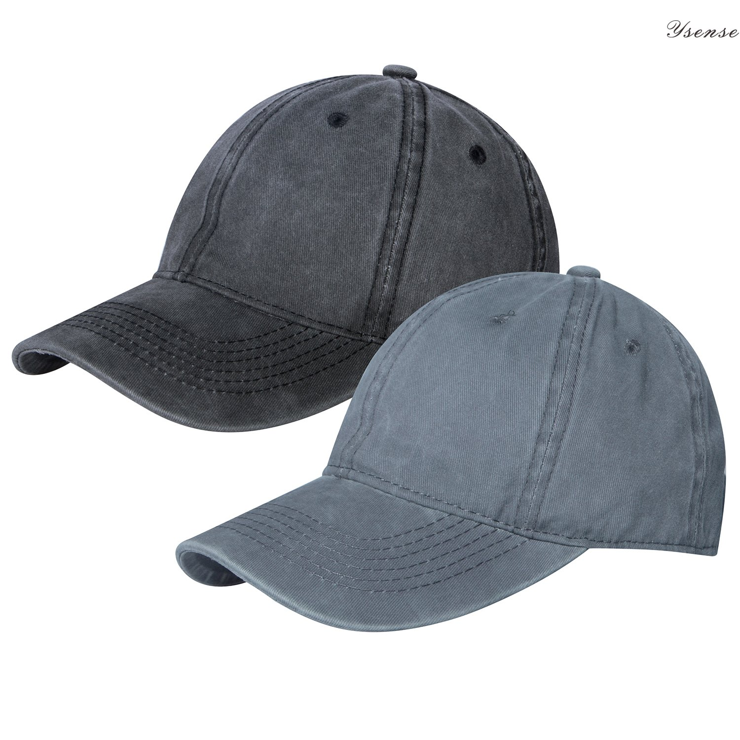 Men Women Baseball cap Cotton Adjustable Washed Dad-hat Unisex Distressed Vintage Plain cap