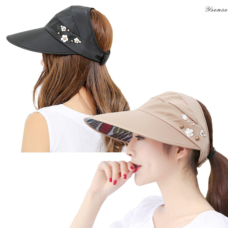 Senza Fretta Summer Beach Sun Hat Visor Wide Brim Cap Hats for Boys Girls Children New Sun Visors Caps
