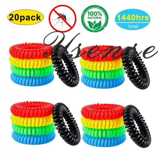 Ysense Mosquito Repellent Bracelets 20 Pack All Natural Deet
