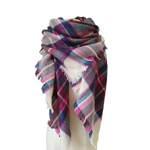 YSense - Women's Plaid Blanket Long Shawl Big Grid Winter Warm Lattice Large Scarf Wrap
